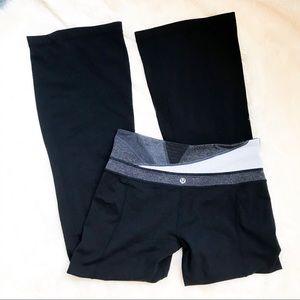 Lululemon | Flare leg black yoga pants